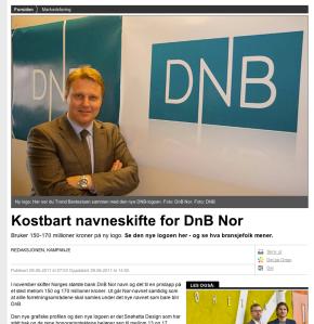 Den nye DNB-logoen