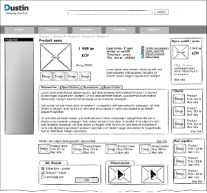 Wireframe Dustin.se