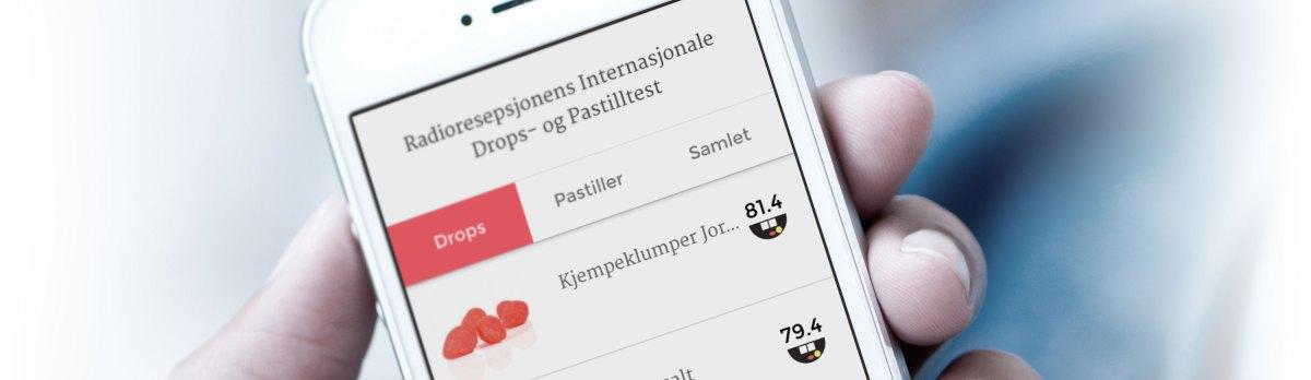 Radioresepsjonens Drops- ogPastilltest-app