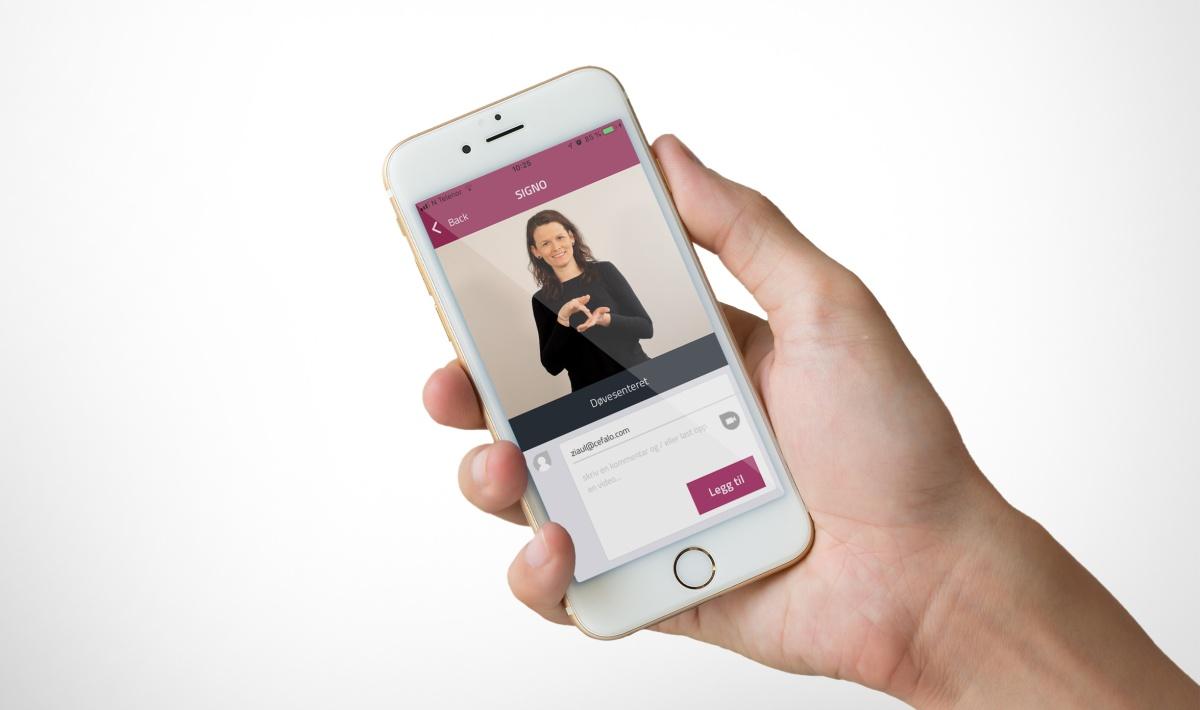Tegnspråk-app for Signo –et første steg på en spennendeteknologivei