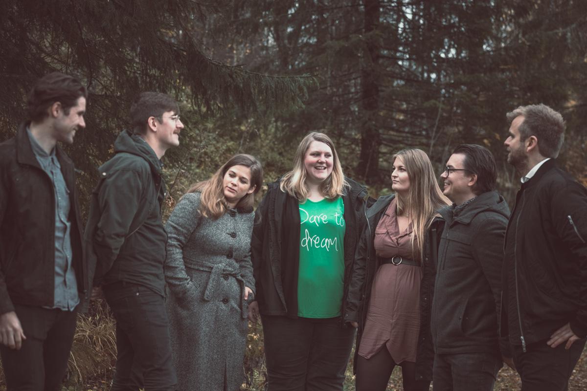 Kristoffer, Pétur, Anne, Ann-Kristin, Camilla, Johannes og Bjørn i Brainify